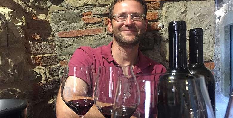 Geheimtipps gibt es einige im Chianti Classico, das Gebiet ist in Bewegung, Diego Finocchi von L'Erta di Radda in Chianti Classico zählt dazu