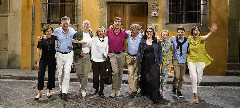 Steffen Maus mit berühmten Winzern des Chianti Classico von Castello di Ama, Sole e Elena, Fonterutoli und Top-Sommeliere aus Deutschland
