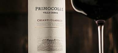 italien-Wein-Toskana-Chianti-Villa Serna-Weinetikett Classico