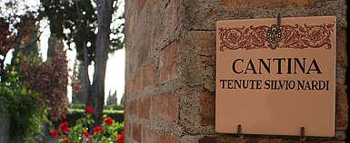 italien-wein-brunello-Nardi-Toskana-Eingangstor des Weingutes