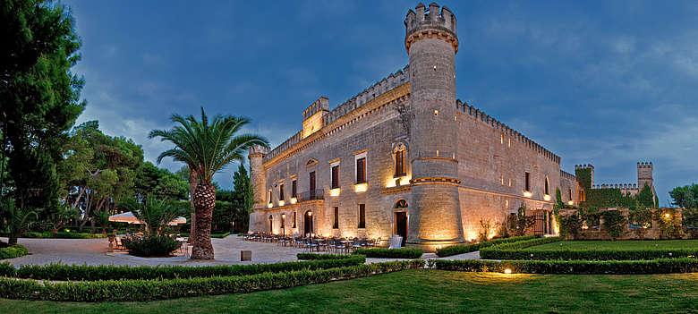 Italien-WEin-Apulien-Castello di Monaci-Ort für Hochzeitsfeierlichkeiten