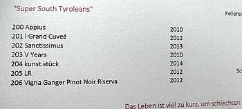 Südtirol Spezial Herbst 2018 - Weiße Burgunder begeistern mit Mineralität und Säurerückgrat